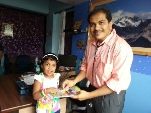 Prize distribution at clinic|Dr Nikam's Sri Sai Marigold Child Care Hospital and NICU|Amli,SILVASSA