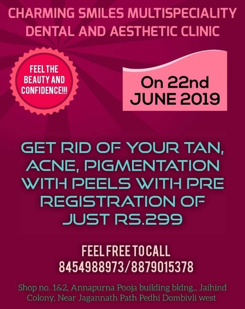 OFFER at Charming Smiles Multispeciality Dental and Aesthetic clinic|Charming Smiles Dental Clinic|Dombivli West,Mumbai
