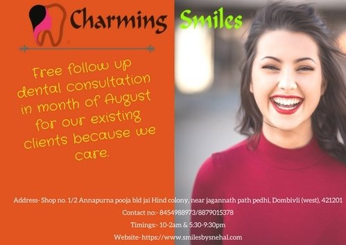 Contact at charming smiles|Charming Smiles Dental Clinic|Dombivli West,Mumbai