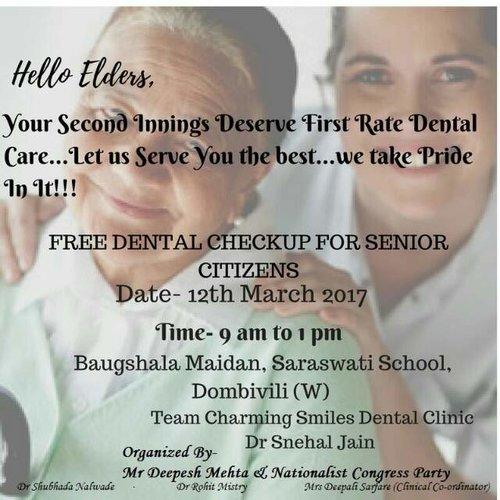 Sr Citizen camp|Charming Smiles Dental Clinic|Dombivli West,Mumbai