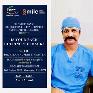 FICCI flo - Spine Webinar|Dr.Kiran Kumar Lingutla|Ameerpet,Hyderabad