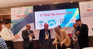 Photo : Dr. Hrushikesh Saraf at 3rd Pune Hip Course