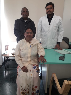 Photo : Happy Patient from calcutta post Knee Replacement surgery for the both knee