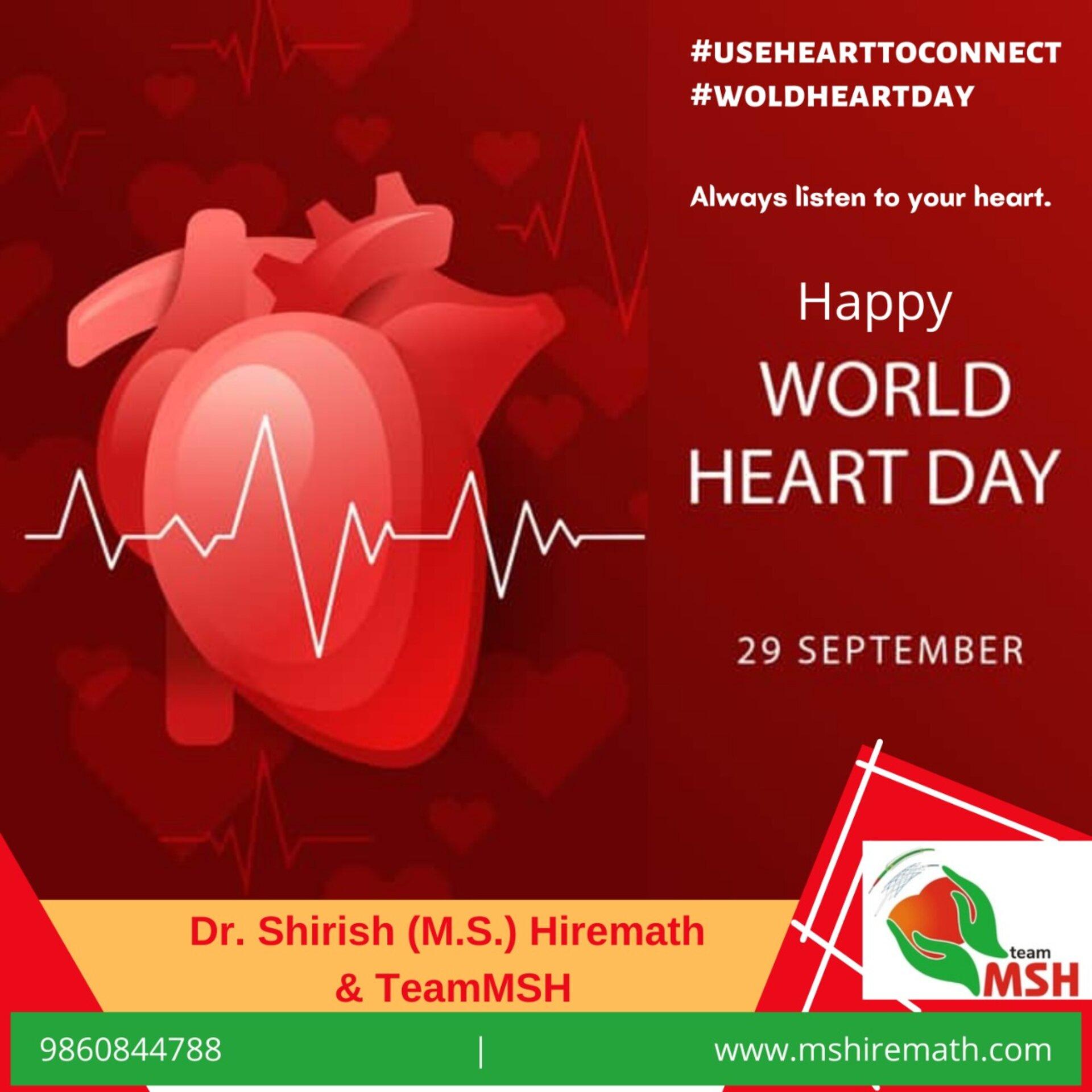 World Heart Day | 5 Tips for Health Heart by Dr. Shirish Hiremath