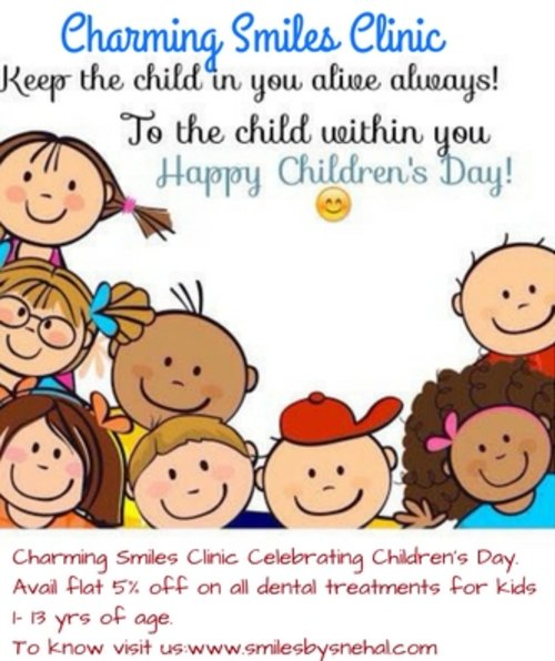 Charming Smiles Clinic Celebrating Children's Day|Charming Smiles Dental Clinic|Dombivli West,Mumbai