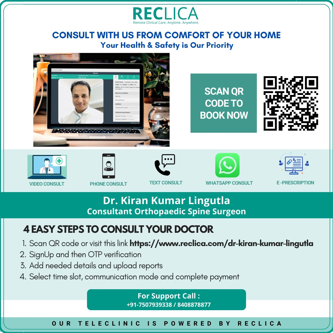 online Consutation with Dr. Kiran Kumar Linutla