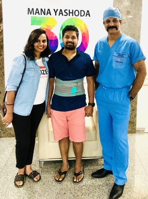 Concierge Spine Surgery: Pt.Mr. Rajshekar ( Canada )|Dr.Kiran Kumar Lingutla|Ameerpet,Hyderabad