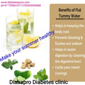 Health benefits of detox water| Ayur DiabaPro Diabetes Clinic|Thergaon,Pune