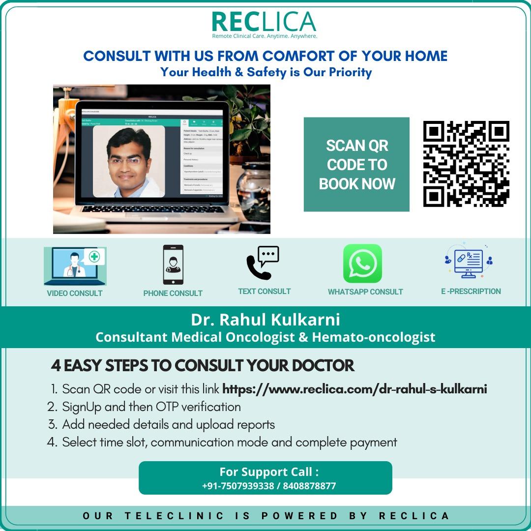 Online Consultation with Dr. Rahul Kulkarni