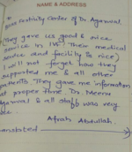 Patient Testimonials | Dr Meenu Agarwal | Dhole Patil Road, Pune